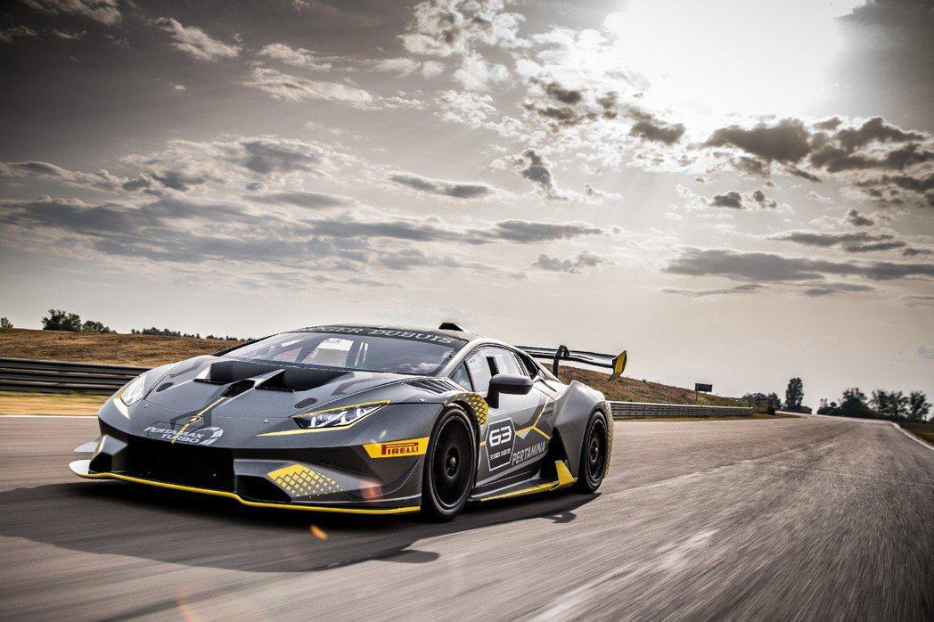 Lamborghini全新統規戰駒 Huracán Super Trofeo EVO。圖/Lamborghini提供