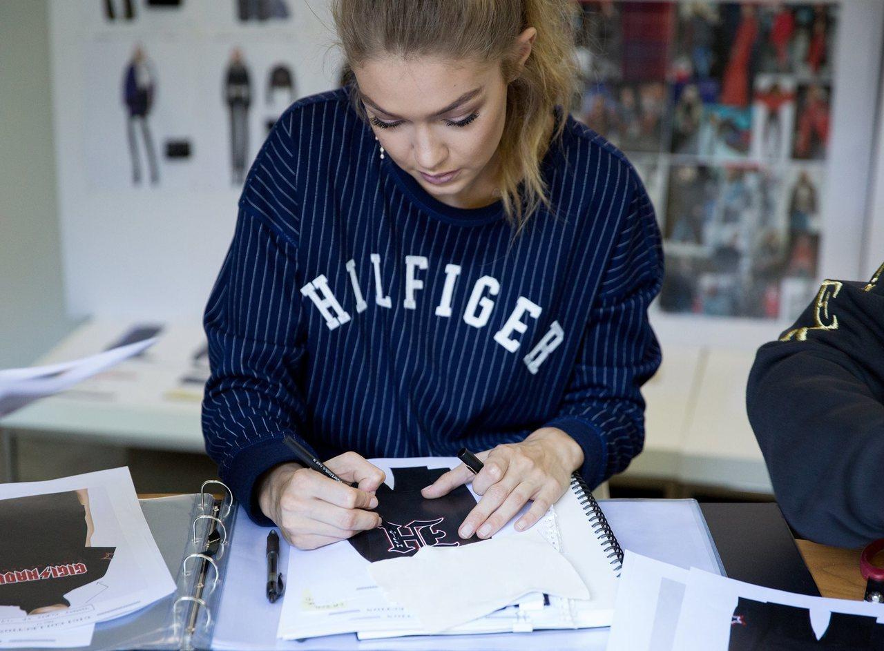 Gigi參與TommyXGigi設計。