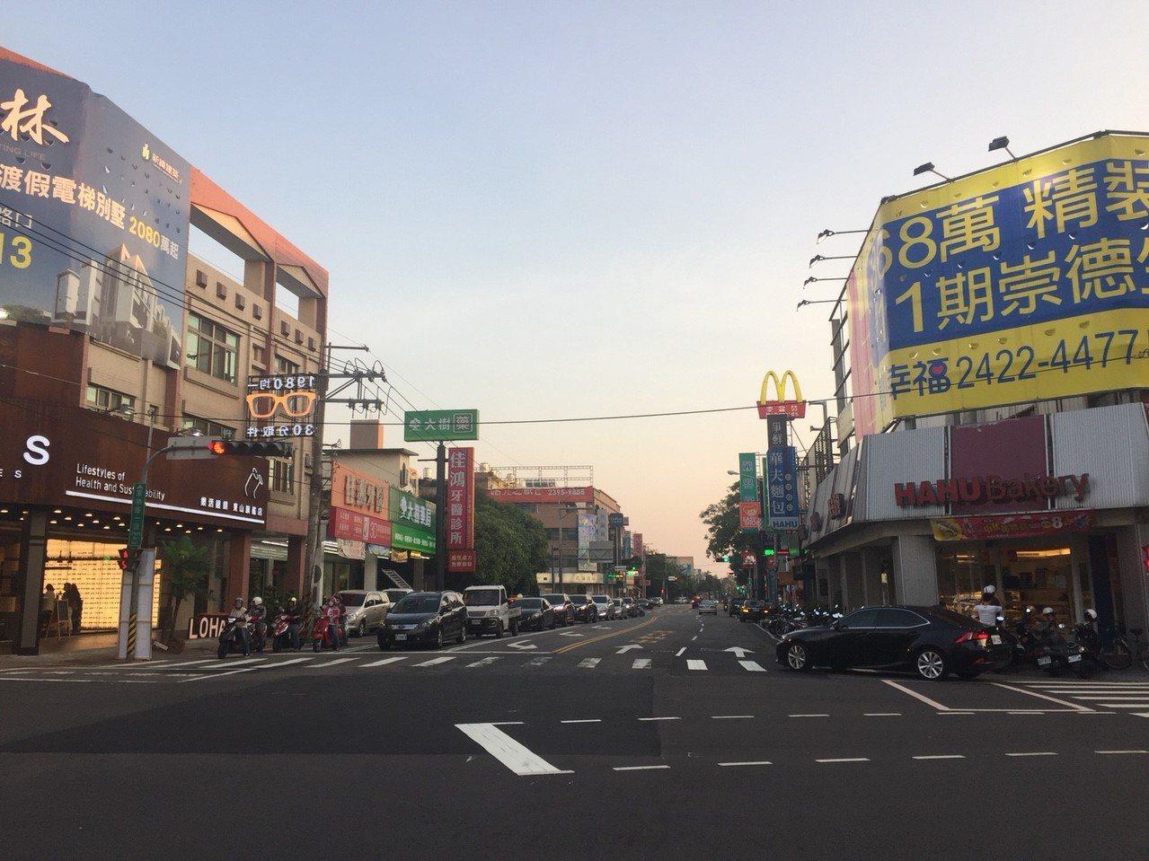 台中北屯區街景 有巢氏房屋提供