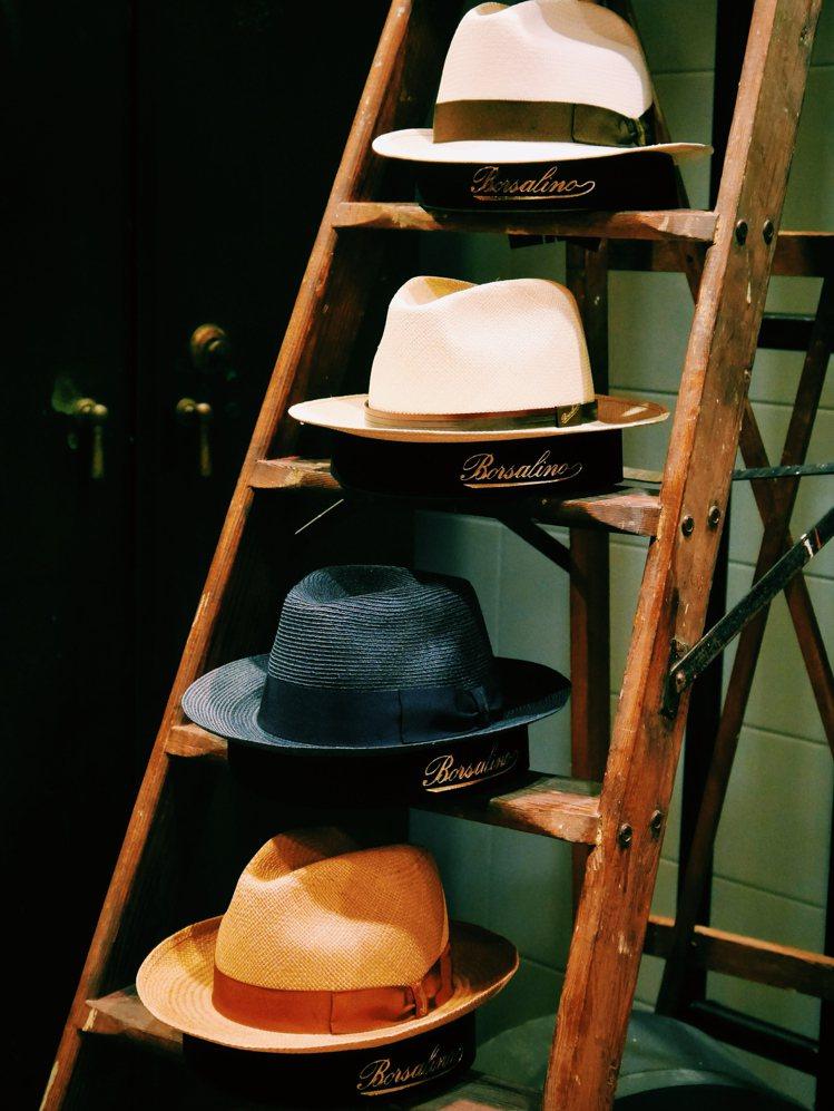 Borsalino的Fedora巴拿馬草帽,編織工藝有三種不同編織等級。攝影/J...