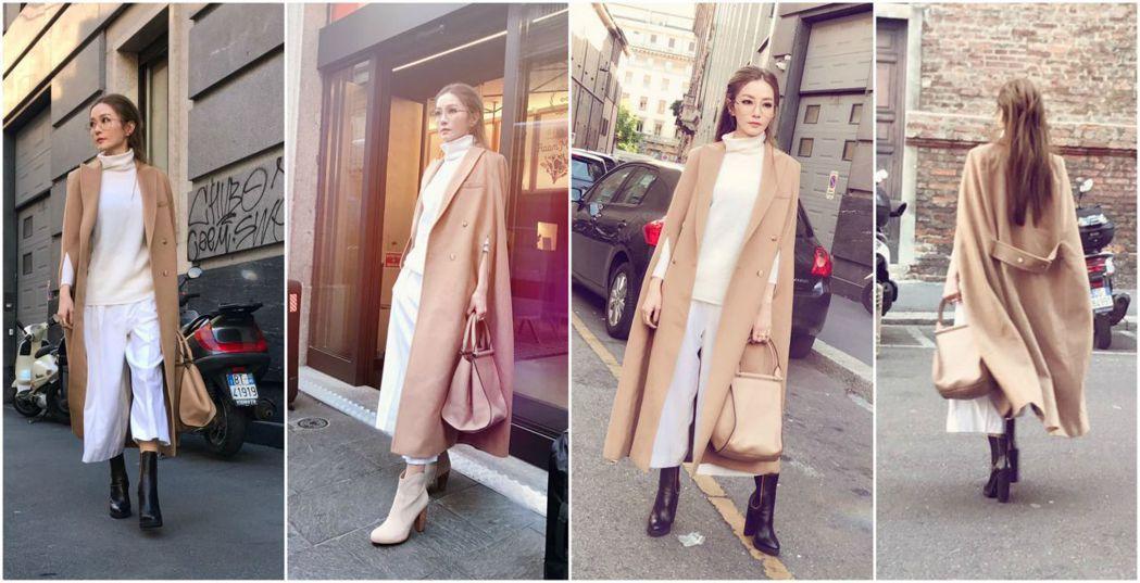 謝金燕在米蘭造型多變。圖/摘自Vogue Taiwan官網