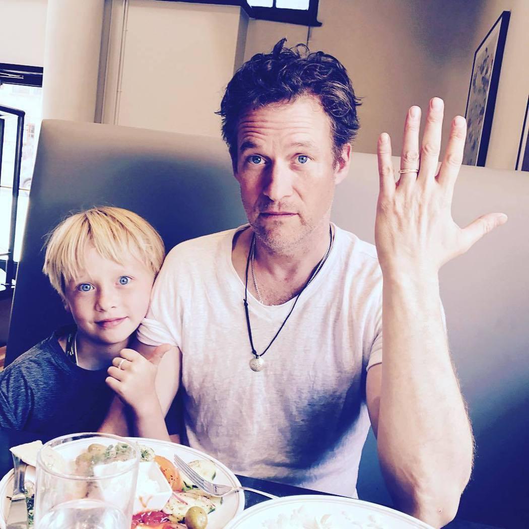 詹姆斯塔波與兒子阿特拉斯都是安海契的最愛。圖/摘自Instagram