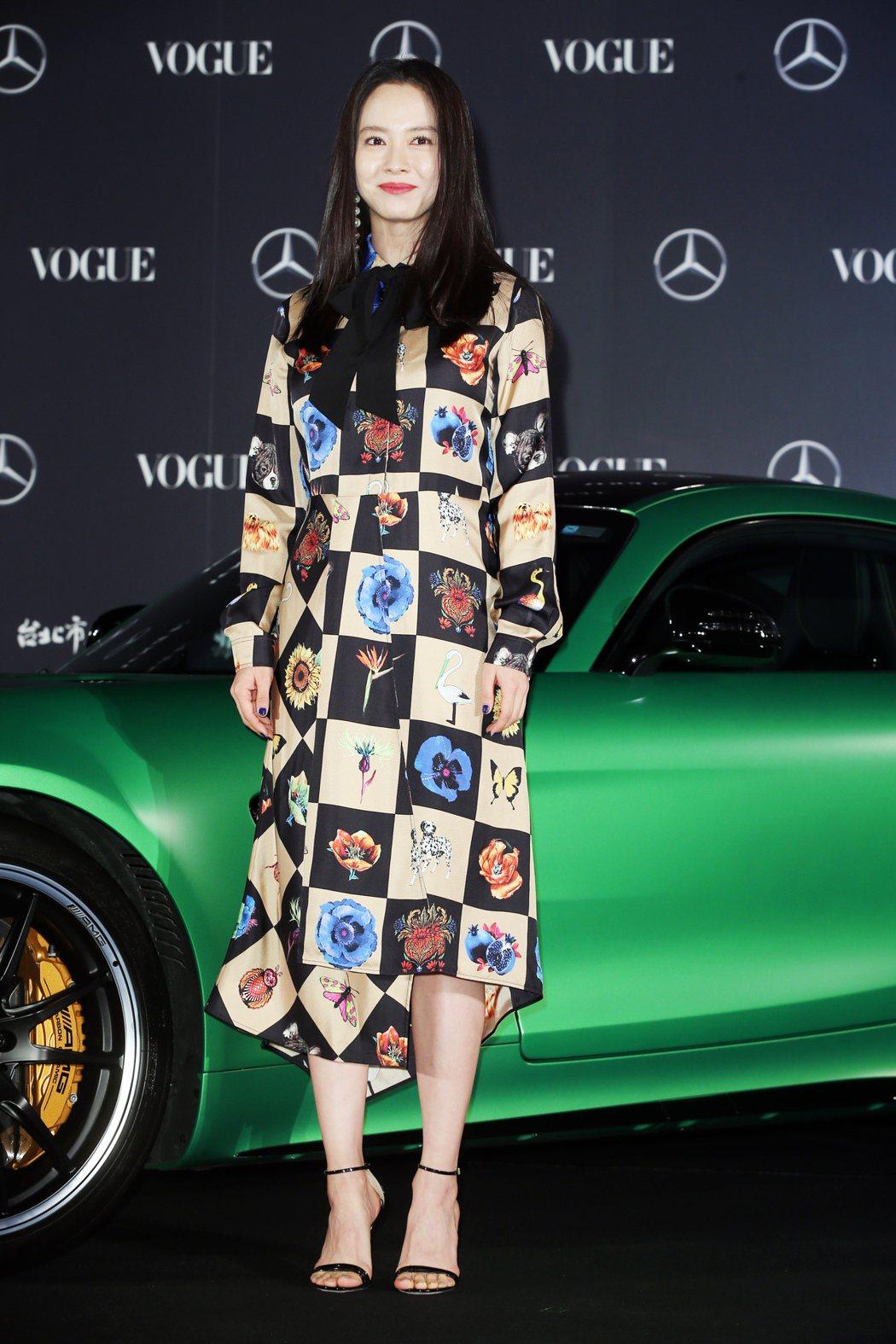 韓星宋智孝出席VOGUE全球購物夜活動並擔任時尚夜大使。記者徐兆玄/攝影