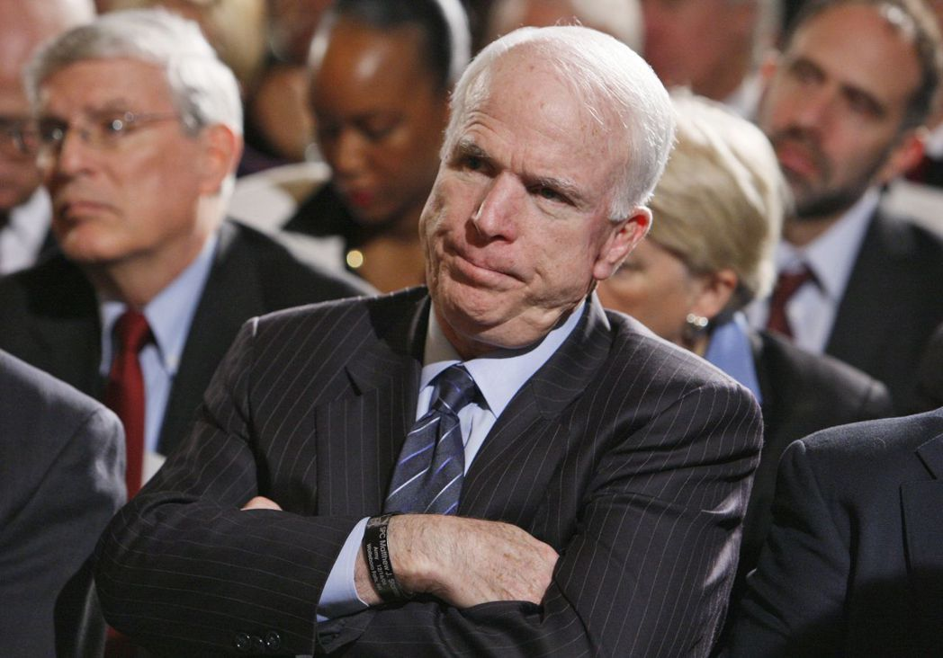 美國聯邦參議員馬侃(John McCain)。美聯社