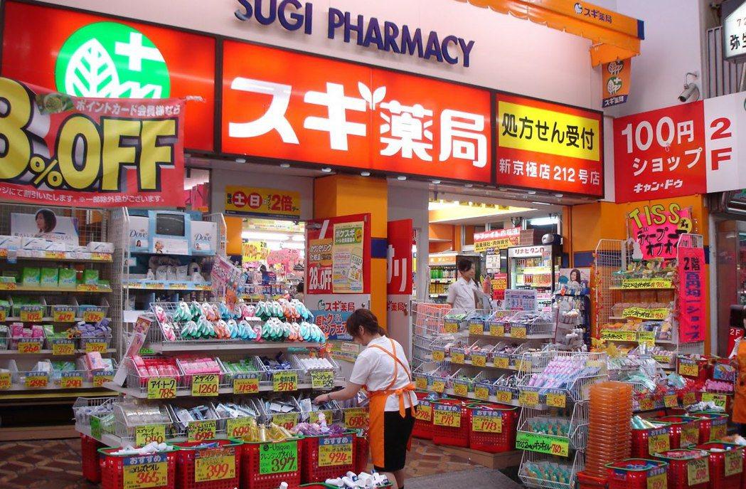 圖為日本一家藥妝店。 圖/取自網路