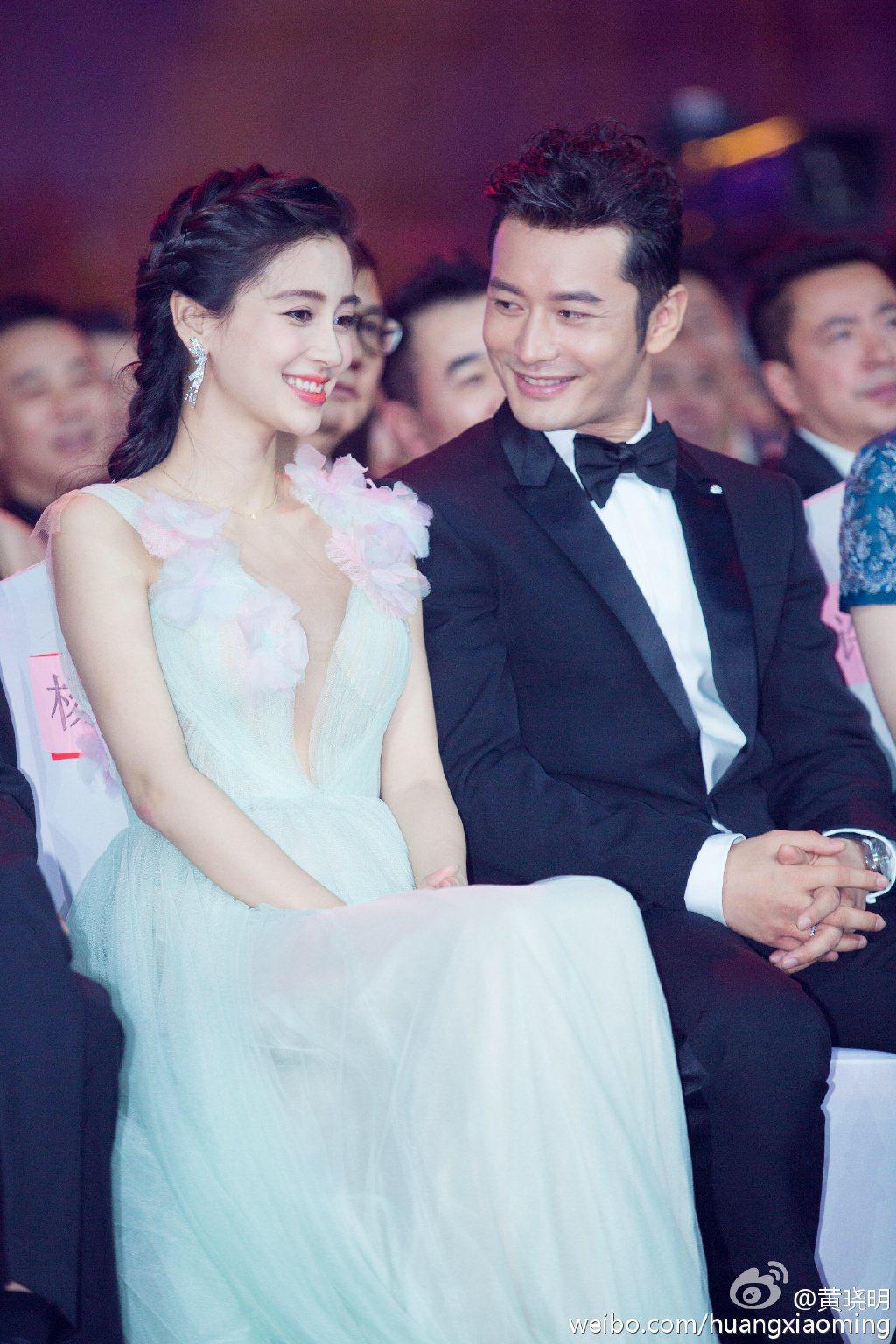 黃曉明與Angelababy登上2017富比世名人榜最強夫妻檔。圖/摘自微博