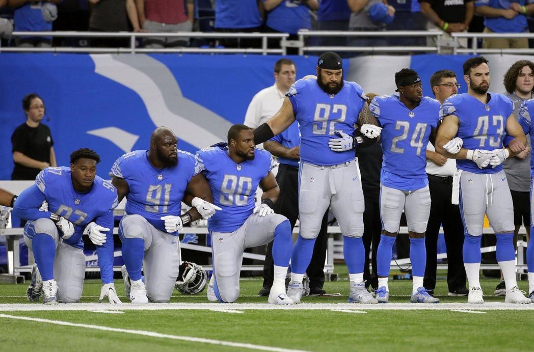 國歌示威在NFL延燒。 美聯社