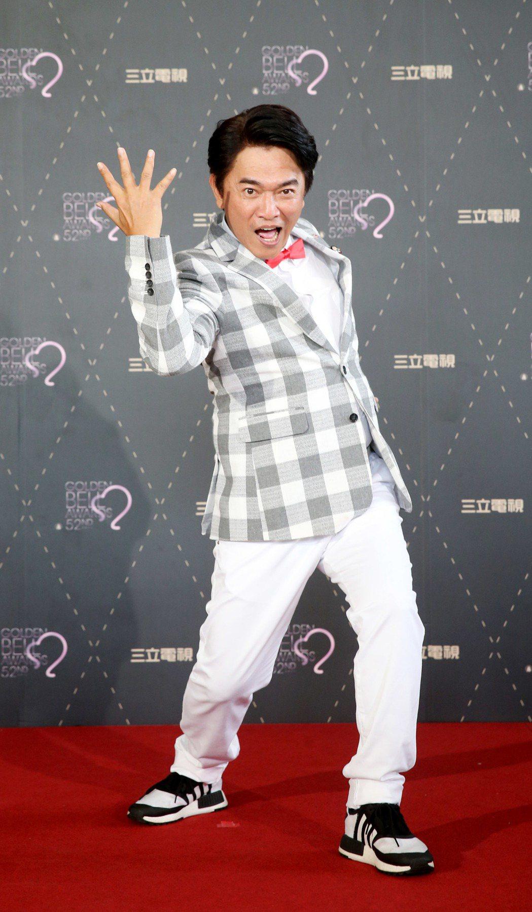 三立電視舉行金鐘分享會,《綜藝大熱門》吳宗憲出席慶祝入圍。記者邱德祥/攝影