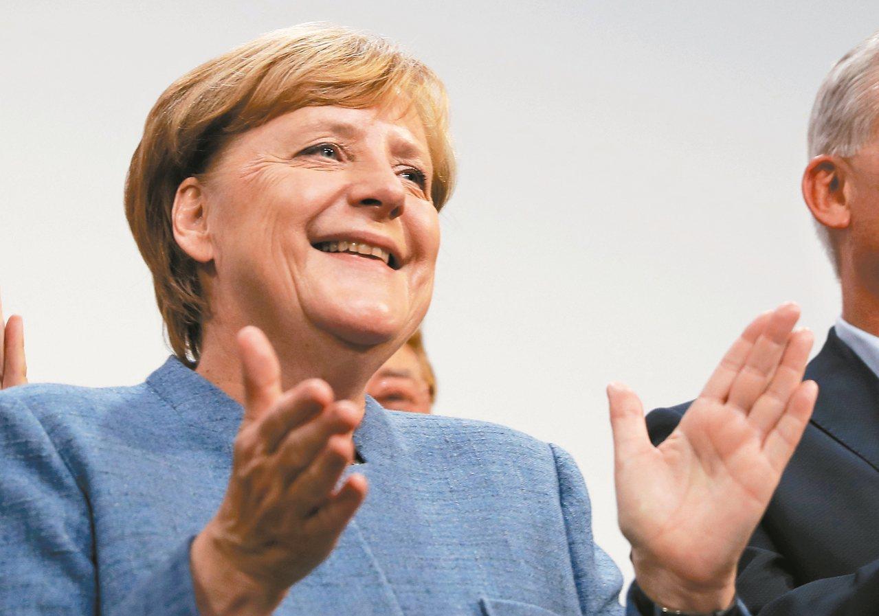 德國大選結果出爐,梅克爾贏得她第四任總理大位。 美聯社