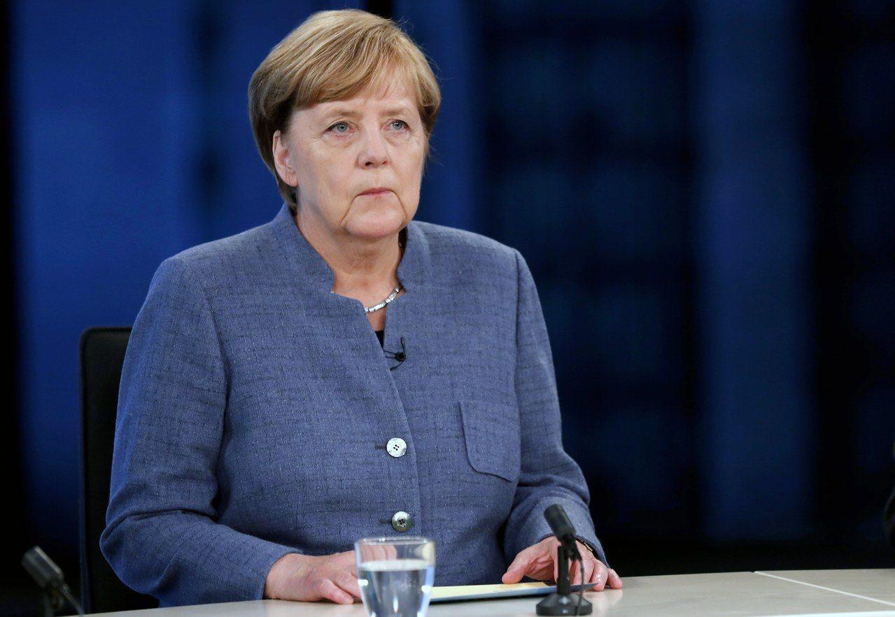 德國總理梅克爾。歐新社