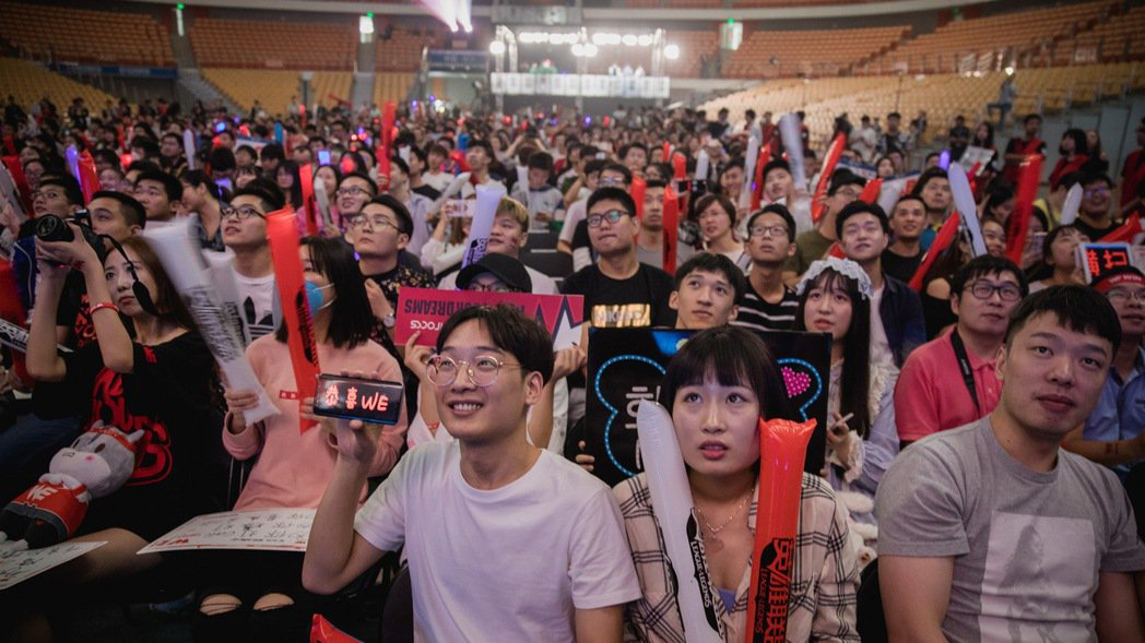 全場地主觀眾熱情為 WE 加油打氣。 照片/Riot Games提供