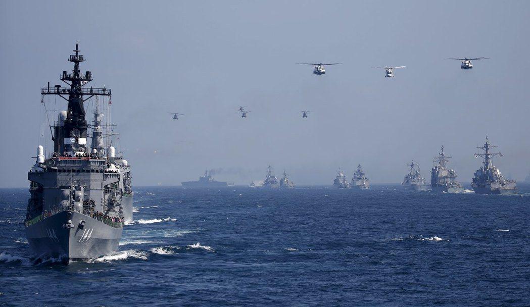 圖為日本白根級驅逐艦,鞍馬號。 圖/路透社