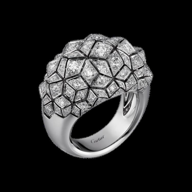 卡地亞Coup d'Eclat 鑽石戒指參考價格約NT$ 1,100,000。圖...