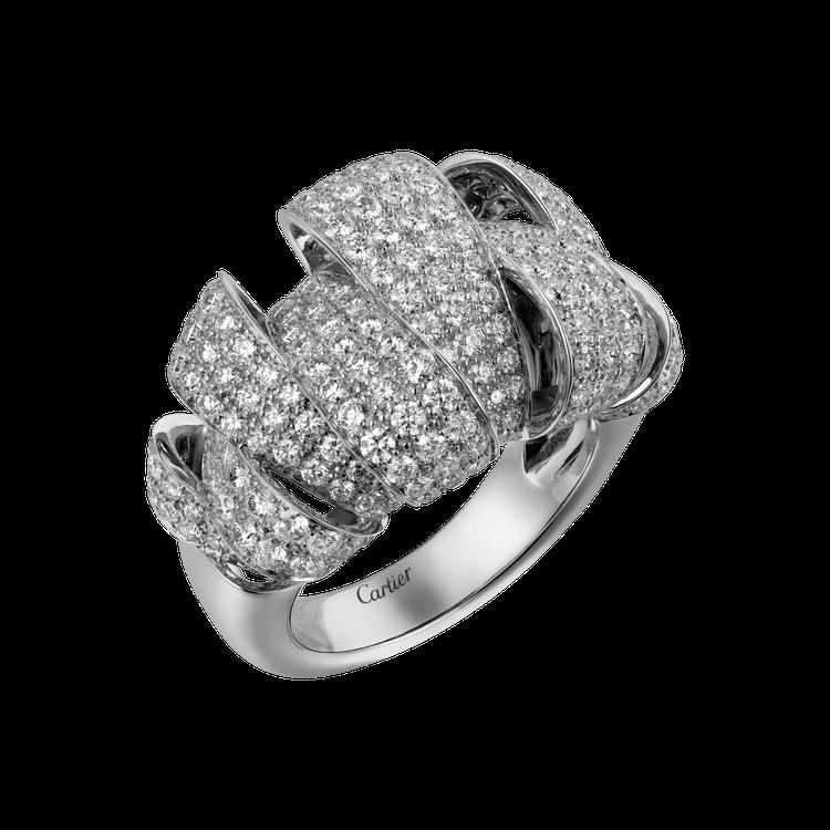 卡地亞Coup d'Eclat 鑽石戒指參考價格約NT$ 1,380,000。圖...