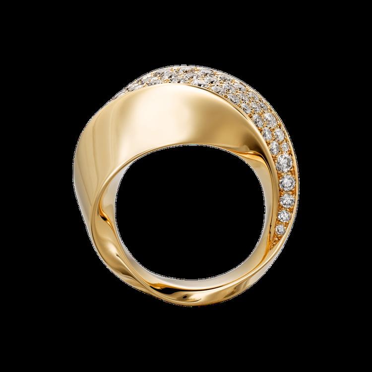 卡地亞Coup d'Eclat 鑽石戒指參考價格約NT$ 575,000。圖/卡...