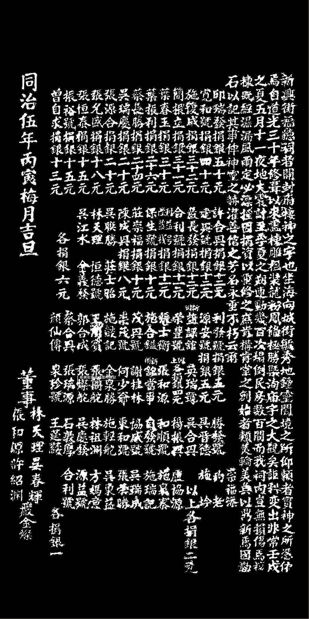 此為1862年臺南大地震後,臺南市的福德祠重建時的碑記,其中描述地震情景,「夜地...