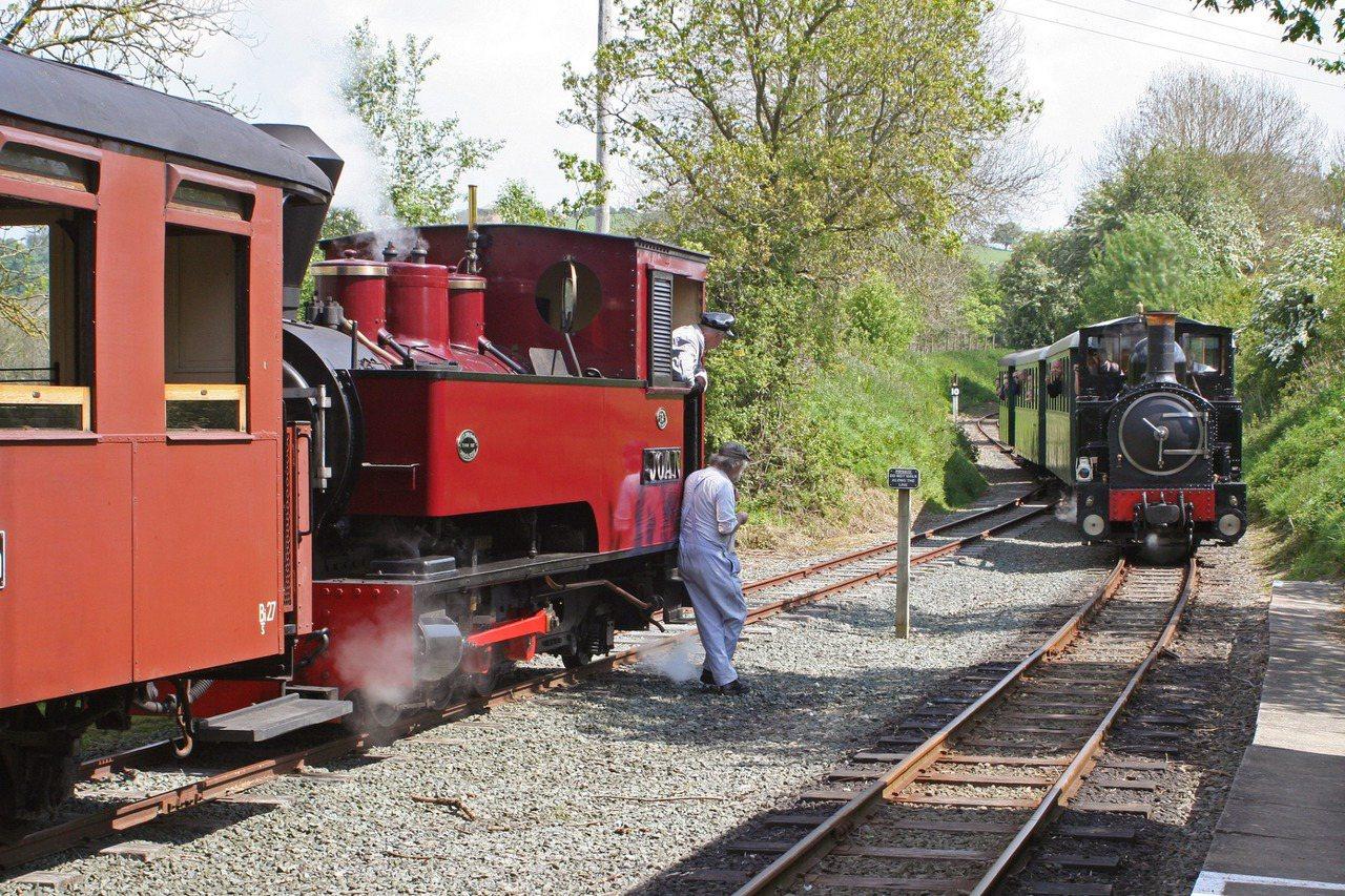 英國威爾斯的窄軌鐵路-威爾普蘭菲爾鐵路。圖/嘉義林區管理處提供