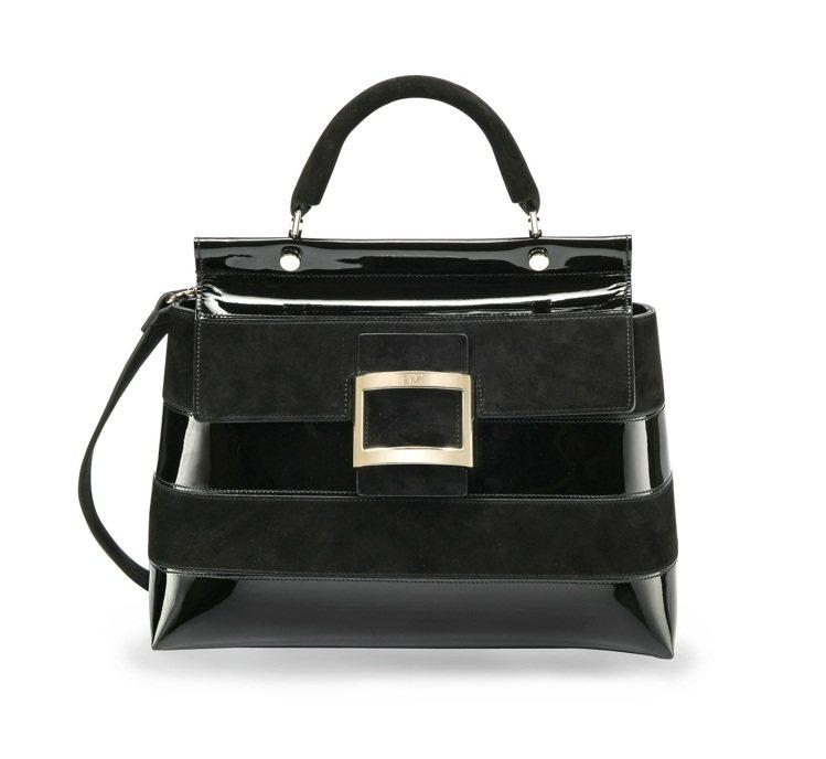 Viv Cabas 黑色條紋漸層手提包,12萬8,000元。圖/Roger Vi...