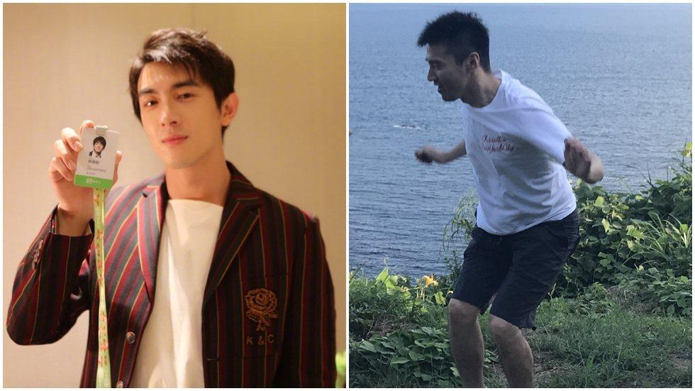趙又廷(右)滿33歲生日,被好友林更新狂整。圖/摘自微博