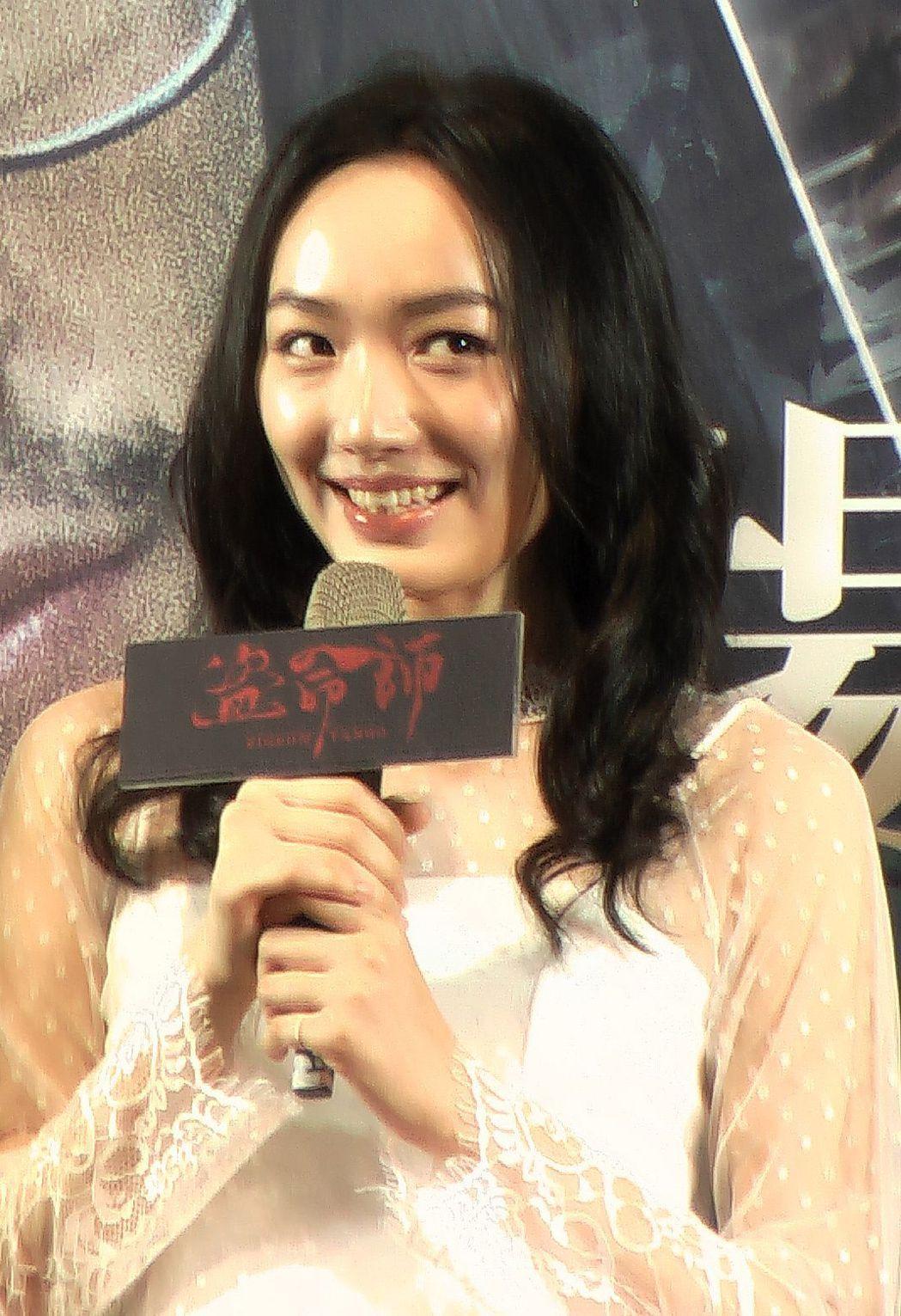 演員蔡思韵在「盜命師」中飾演「貓ㄚ」。記者徐如宜/攝影