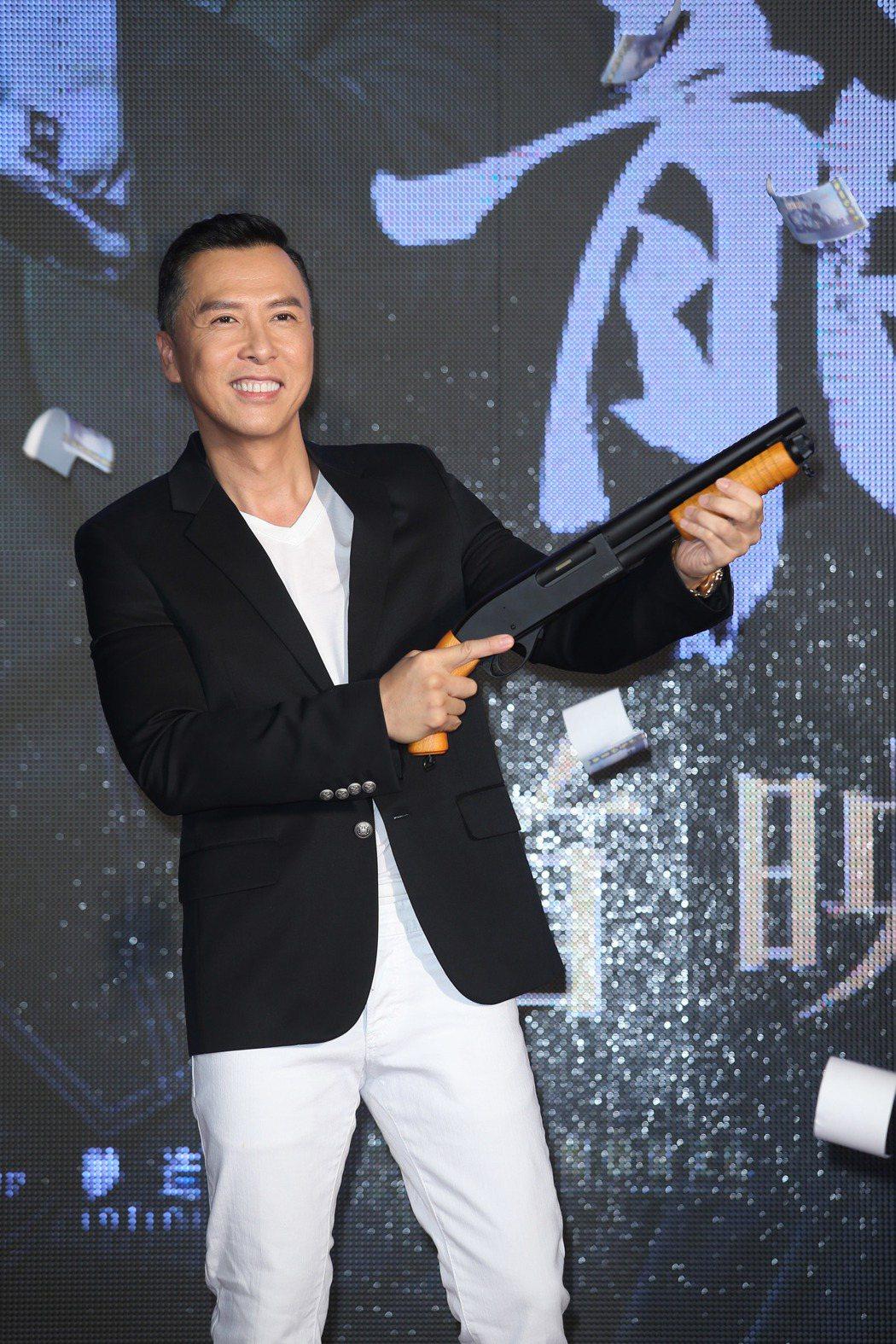 甄子丹來台出席電影「追龍」首映。記者陳瑞源/攝影