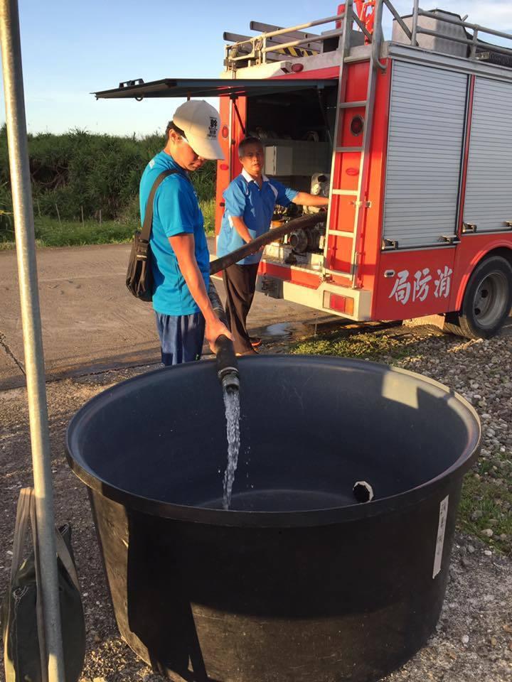 因綠島水源缺乏,火燒島全國馬拉松在賽前一天,主辦單位還特別委請消防車至各水站注水...
