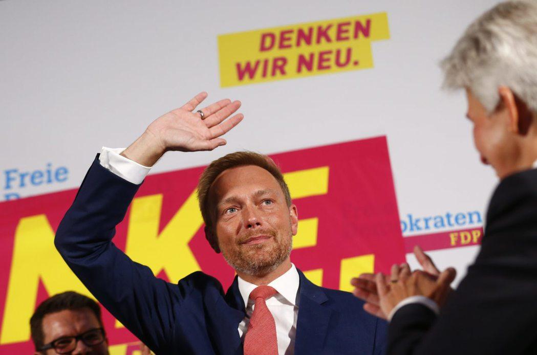 勝選之夜:自民黨與其黨魁林德納(Christian Lindner)。 圖/...