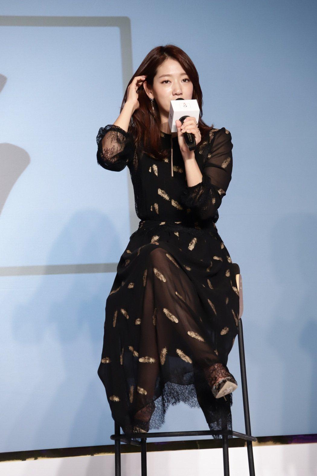 朴信惠26日來台出席洗髮精記者會。記者梅衍儂/攝影