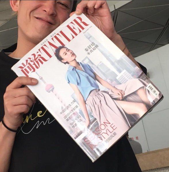 陳冠希與女友秦舒培拍攝的雜誌封面合照,難得放閃。圖/摘自IG