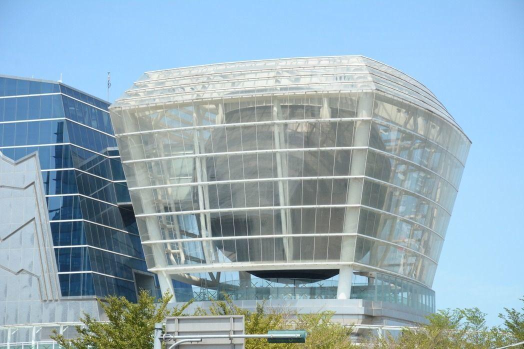 新竹市世博台灣館720度LED球體將拆除,打造為公益性質的兒童探索館。 聯合報系...