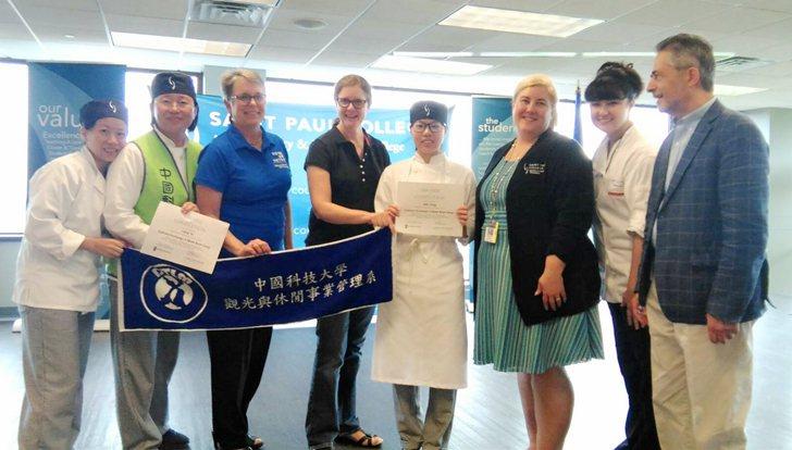 中國科大師生獲SPC與MSU管院校務主管們熱情迎接。 中國科大/提供