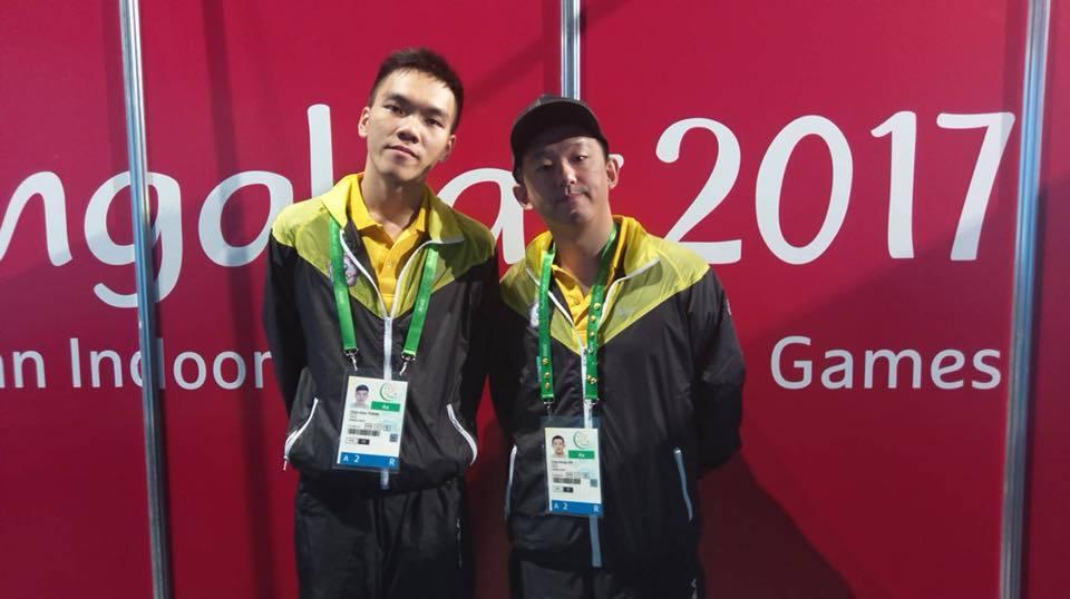 《格鬥天王 14》選手林家弘(右)奪下金牌、曾家鎮(左)獲得銀牌 圖/CTeSA...