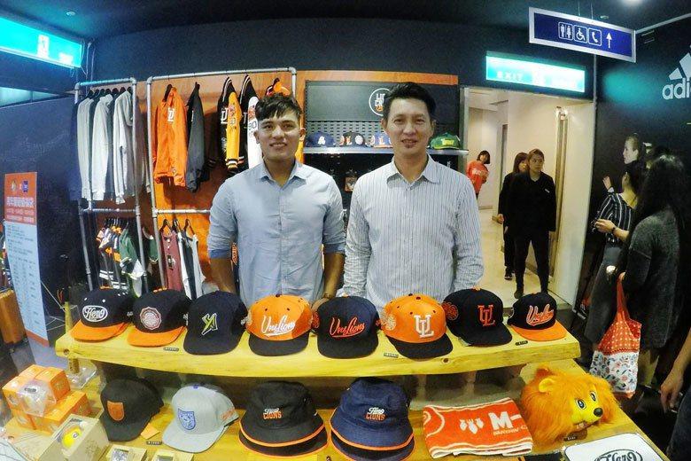 林祐樂(左)很有自信,不但開玩笑希望高志綱(右)不要歸隊,也不怕陳重羽的競爭。 ...