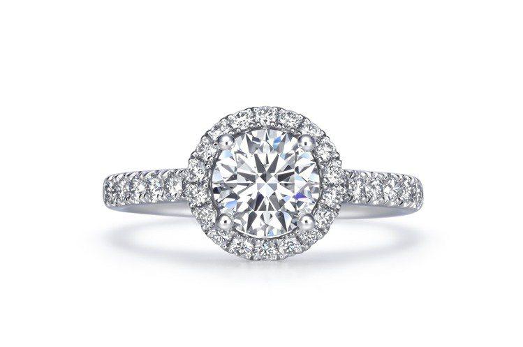 點睛品Infini Love Diamond 婚嫁系列900鉑金鑽石戒指鑲嵌主石...