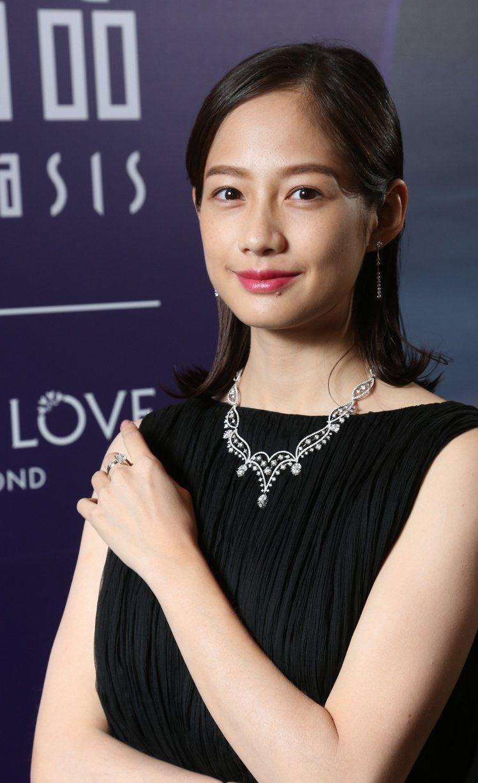 簡嫚書出席點睛品Infini Love Diamond珠寶發表。圖/記者陳立凱攝...