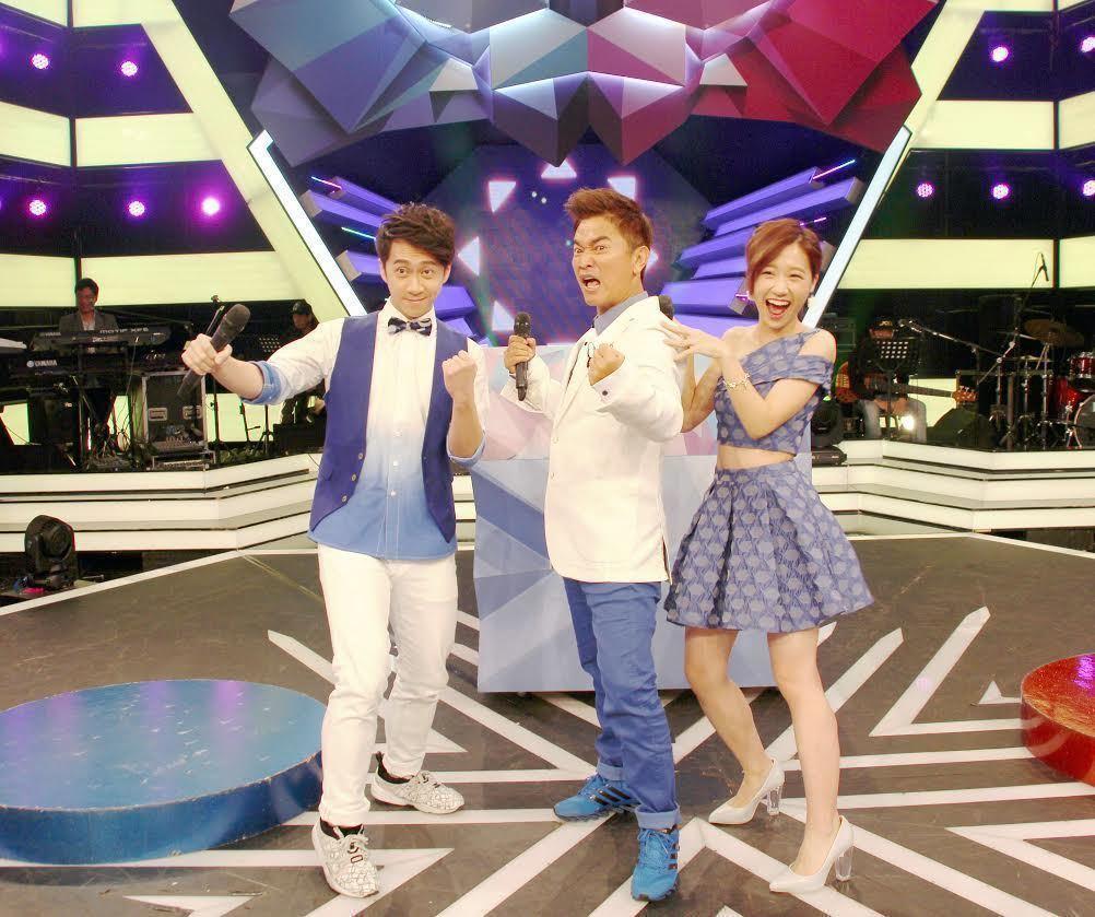 吳宗憲(中)和陳漢典(左)、Lulu是本屆金鐘黑馬之一。圖/三立提供
