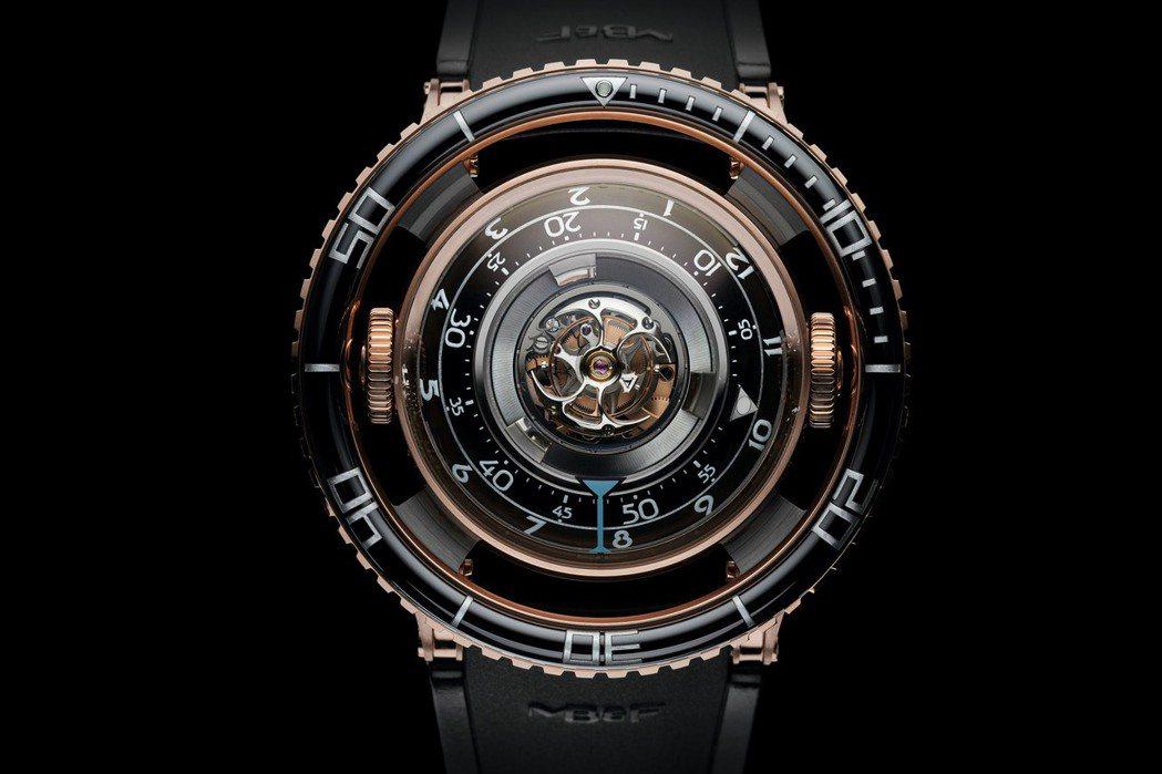 MB&F HM7腕表,3D 立體垂直結構機芯、自動上鍊、由 MB&F 設計研發,...