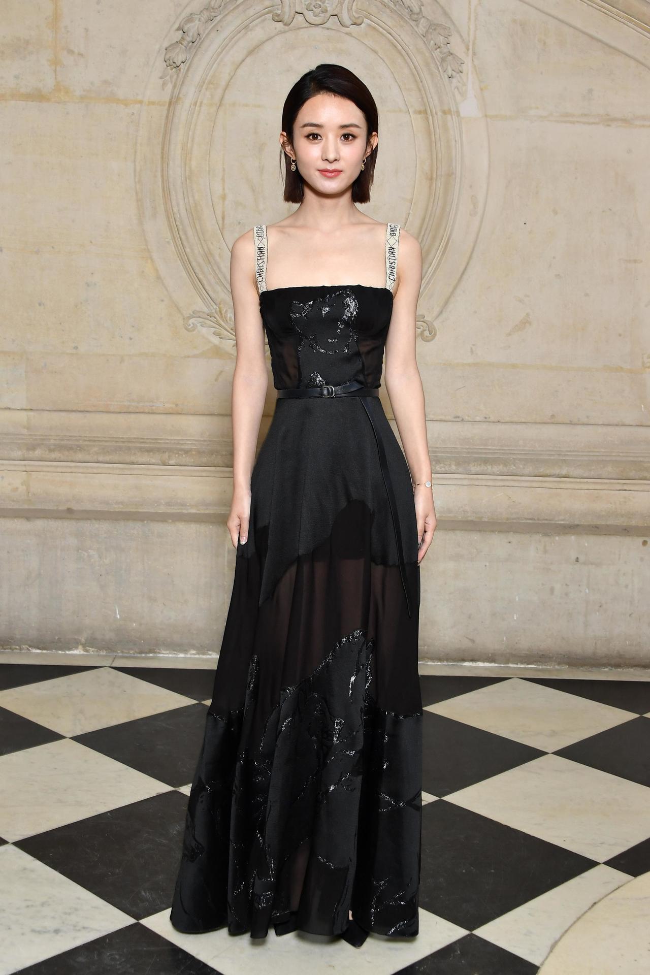 《花千骨》中國女星趙麗穎出席Dior春夏時裝秀。圖/迪奧提供
