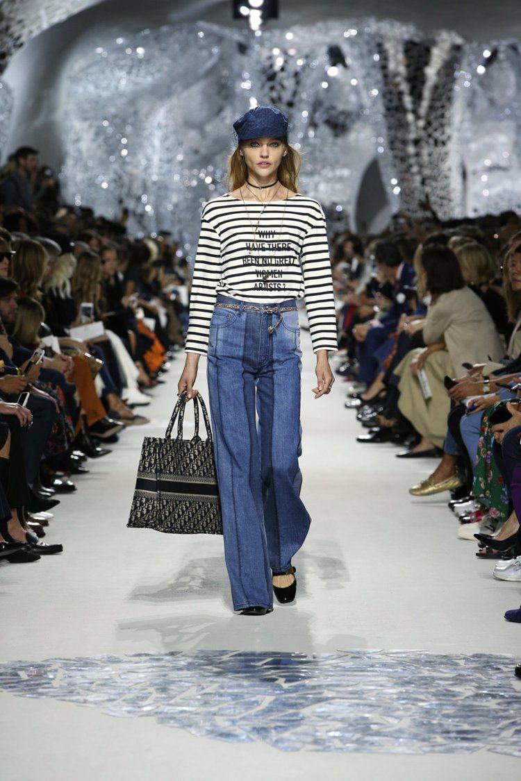Dior 開場即問:「為什麼沒有偉大的女性藝術家?」點出本季主題。圖/迪奧提供