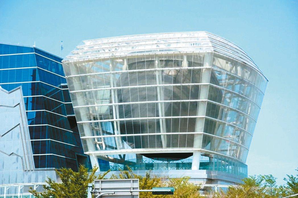 新竹市世博台灣館720度LED球體將拆除,打造為公益性質的兒童探索館。 本報資料...