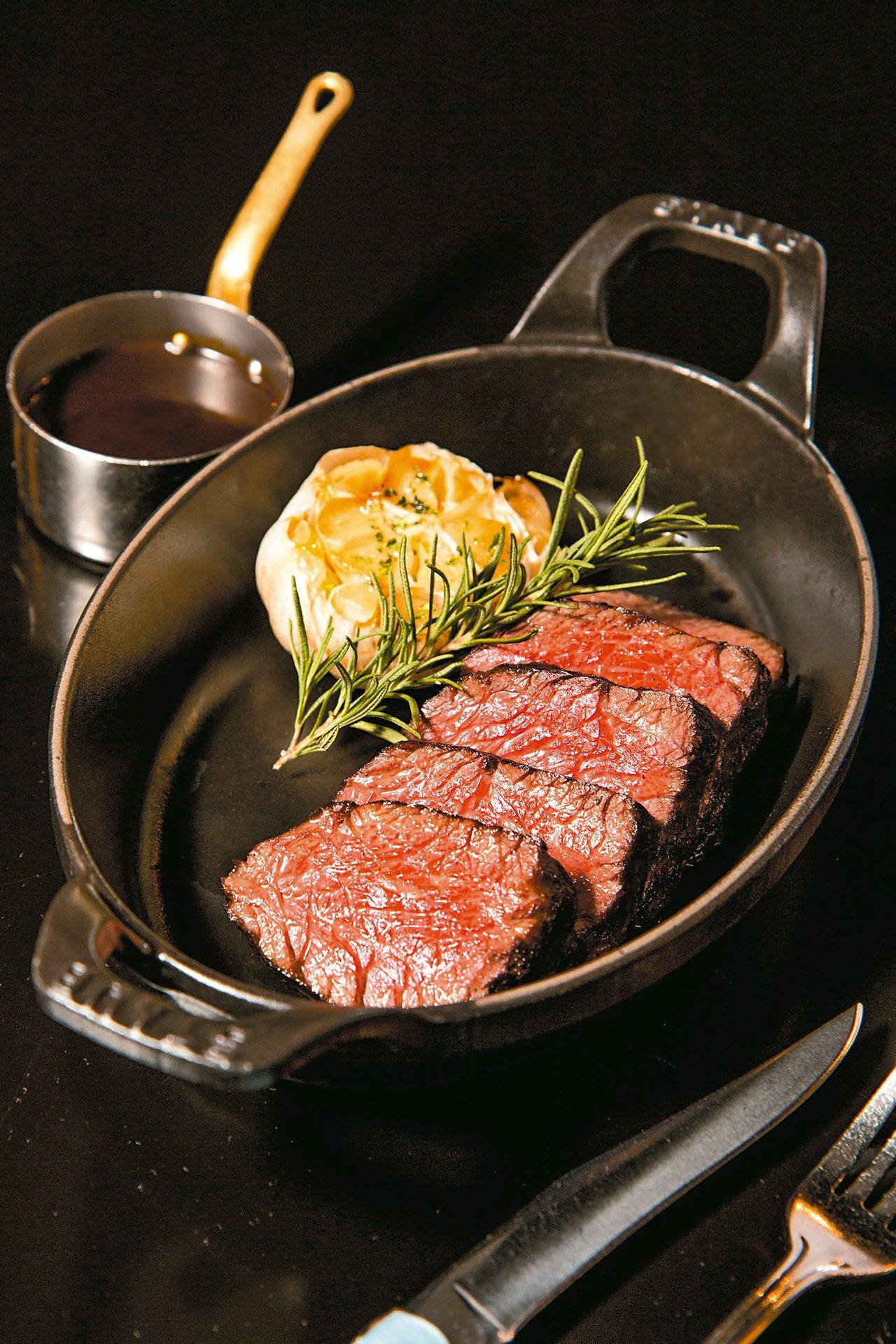 維多麗亞酒店N°168 PRIME牛排館推出的「昂格列牛排」,使用的是少見部位牛...