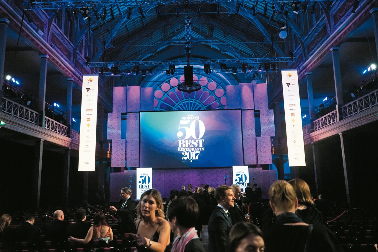 今年的世界五十最佳餐廳頒獎典禮現場,在墨爾本。 圖/LIZ提供