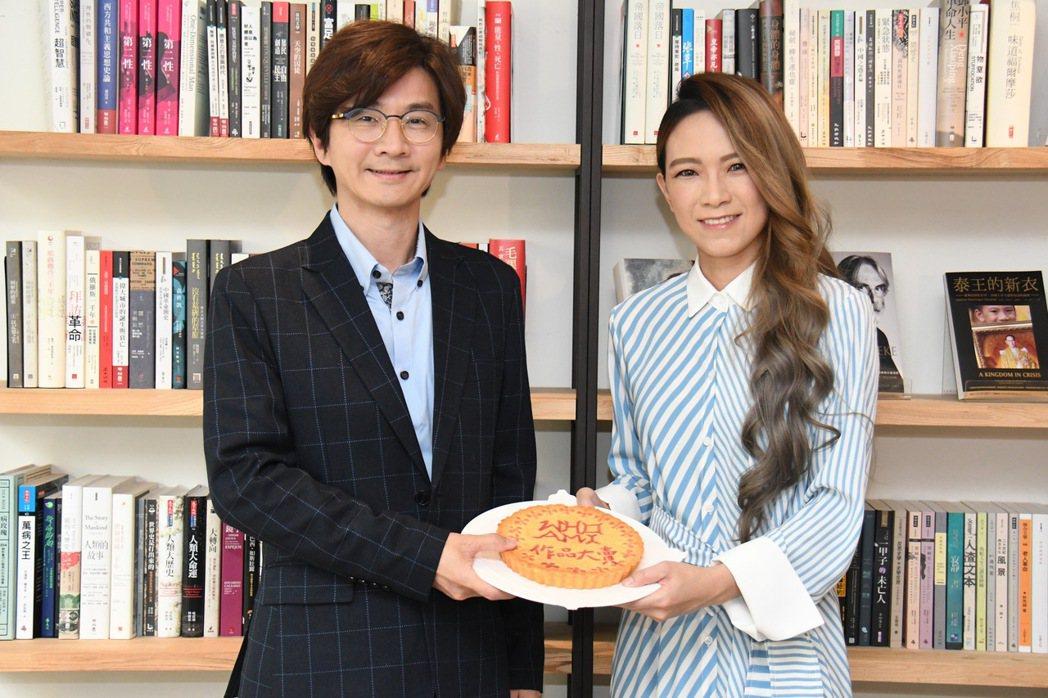 林隆璇28日舉辦媒體餐敘,張芸京來站台。圖/青田音樂文化提供