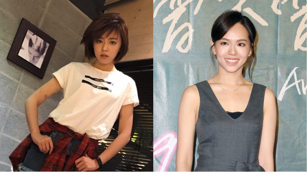 王瞳(左)短髮新造型曾被誤認為夏于喬(右)。圖/民視提供、聯合報系資料照