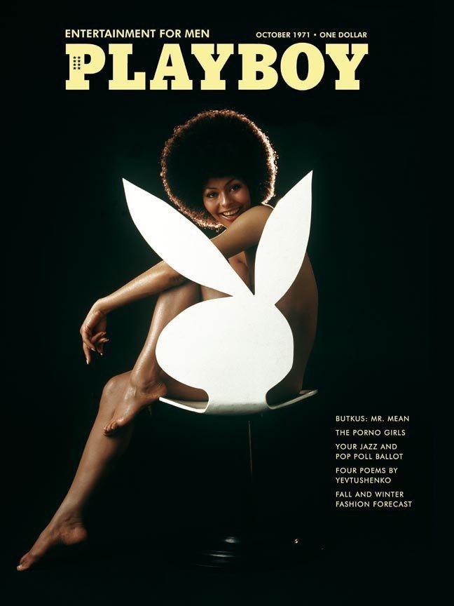 花花公子1971年10月號封面女郎、名模 黛琳史騰,她是第一位登上花花公子雜誌的...