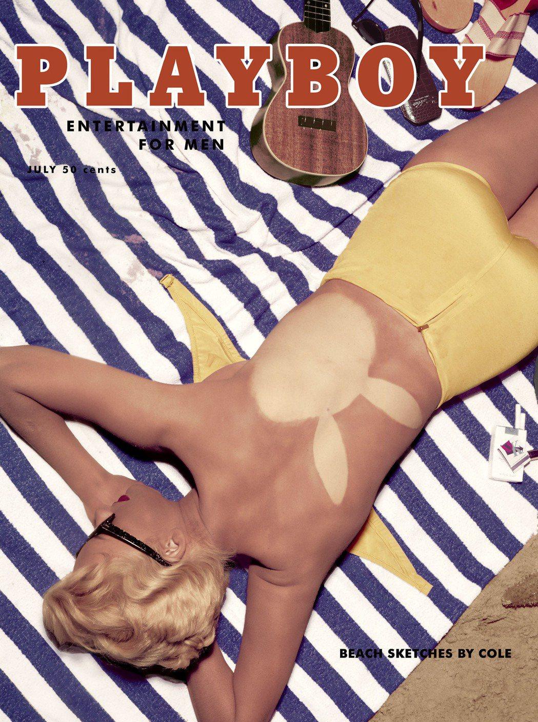 花花公子1955年7月號封面女郎、超模貝蒂布魯。 (美聯社)