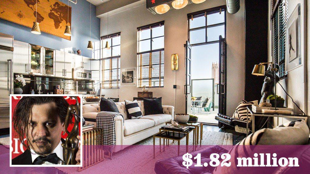 強尼戴普剛賣出的頂層集合住宅客廳。(房地產經紀公司提供)
