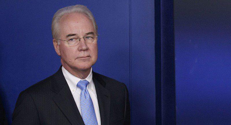 衛福部長普萊斯濫用公帑,讓川普總統「不高興」。 美聯社