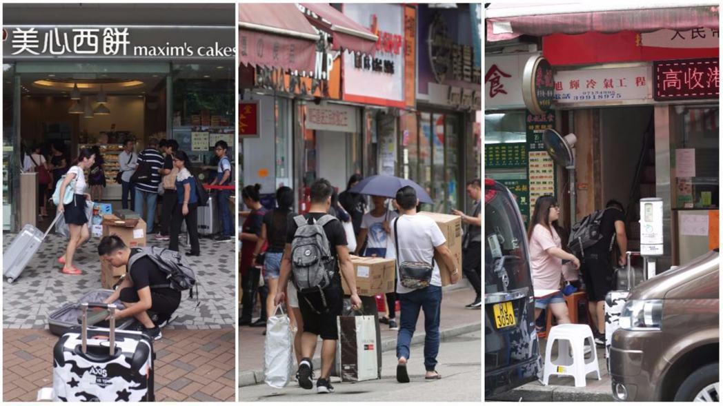 一名男子在美新西餅店帶走數10盒月餅後,囤積於上水的一個倉庫內。圖擷自香港01
