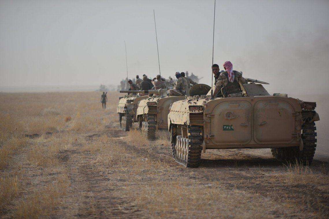 資料圖片:圖為公投前夕,活動於伊拉克西北、底格里斯河畔的什葉阿拉伯義勇軍。 圖/...